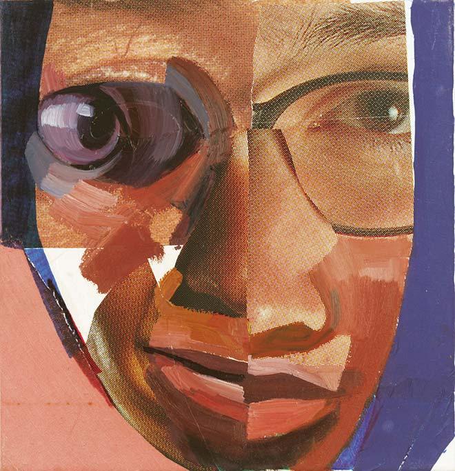 Franz-Yang-Mocnik, Faces, 2001, olje na platno